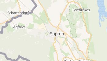 Sopron - szczegółowa mapa Google