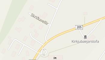 Kirkjubæjarklaustur - szczegółowa mapa Google