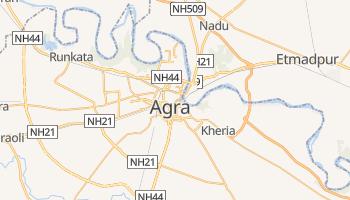 Agra - szczegółowa mapa Google