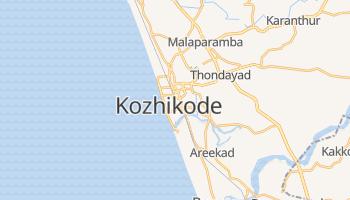 Kozhikode - szczegółowa mapa Google