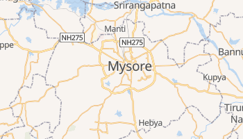 Mysore - szczegółowa mapa Google