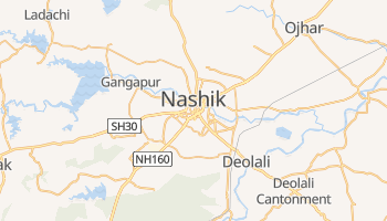 Nashik - szczegółowa mapa Google