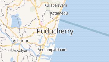 Puducherry - szczegółowa mapa Google