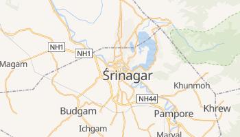 Srinagar - szczegółowa mapa Google