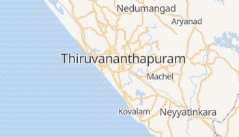Thiruvananthapuram - szczegółowa mapa Google