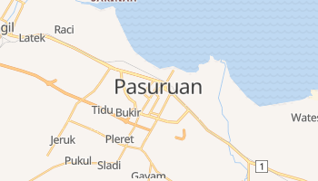 Pasuruan - szczegółowa mapa Google