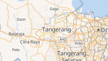 Tangerang - szczegółowa mapa Google