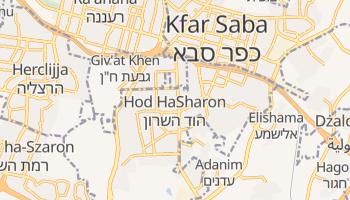 Hod ha-Szaron - szczegółowa mapa Google