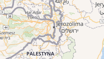 Jerozolima - szczegółowa mapa Google