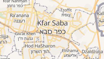 Kefar Sawa - szczegółowa mapa Google