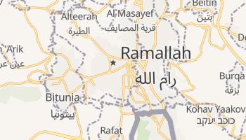 Ramallah - szczegółowa mapa Google