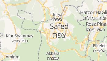 Safed - szczegółowa mapa Google