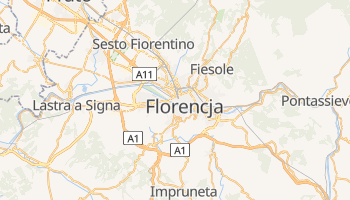Florencja - szczegółowa mapa Google
