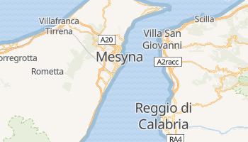 Mesyna - szczegółowa mapa Google