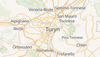 Turyn - szczegółowa mapa Google