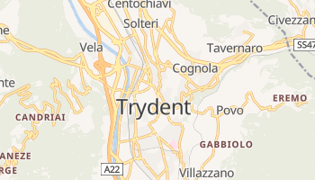 Trydent - szczegółowa mapa Google