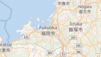Fukuoka - szczegółowa mapa Google