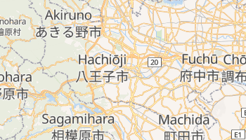 Hachiōji - szczegółowa mapa Google
