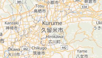 Kurume - szczegółowa mapa Google
