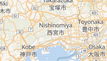Nishinomiya - szczegółowa mapa Google