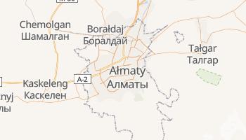 Ałma Ata - szczegółowa mapa Google