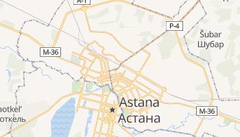 Astana - szczegółowa mapa Google