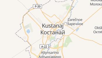 Kustanaj - szczegółowa mapa Google