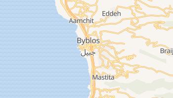 Byblos - szczegółowa mapa Google