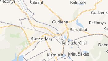 Koszedary - szczegółowa mapa Google