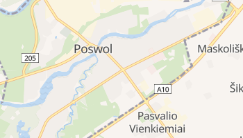 Poswol - szczegółowa mapa Google
