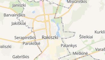 Rakiszki - szczegółowa mapa Google