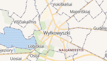 Wiłkowyszki - szczegółowa mapa Google