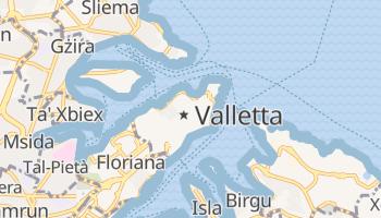Valletta - szczegółowa mapa Google