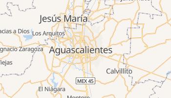 Aguascalientes - szczegółowa mapa Google