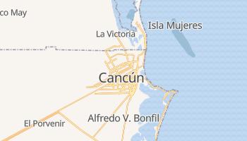 Cancún - szczegółowa mapa Google