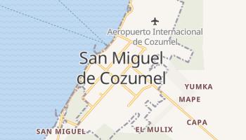 Cozumel - szczegółowa mapa Google