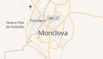 Monclova - szczegółowa mapa Google