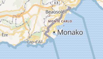 Monako - szczegółowa mapa Google