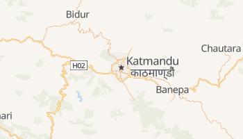 Katmandu - szczegółowa mapa Google