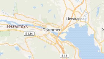 Drammen - szczegółowa mapa Google