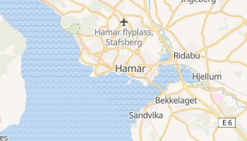 Hamar - szczegółowa mapa Google