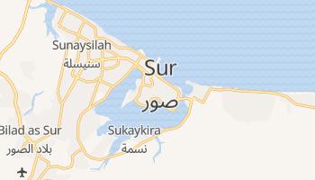 Sur - szczegółowa mapa Google