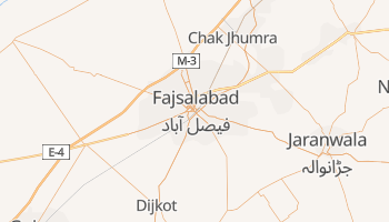 Faisalabad - szczegółowa mapa Google