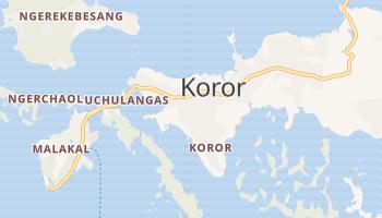 Koror - szczegółowa mapa Google