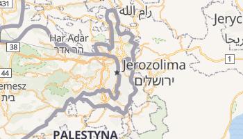 Wschodnia Jerozolima - szczegółowa mapa Google