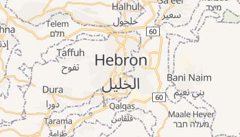 Hebron - szczegółowa mapa Google