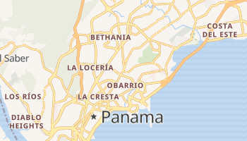 Panama - szczegółowa mapa Google