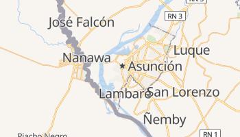Asunción - szczegółowa mapa Google