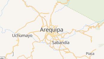 Arequipa - szczegółowa mapa Google