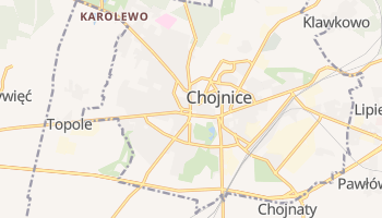 Chojnice - szczegółowa mapa Google